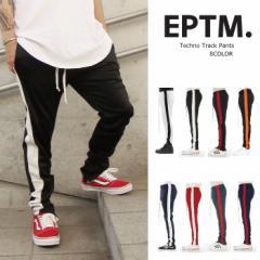 EPTM エピトミ トラックパンツ ライン ジャージ 裾ジップ TECHNO TRACK PANTS メンズ レディース スリムジャージ