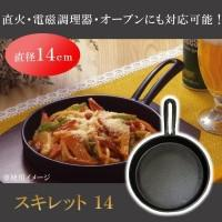 送料無料 池永鉄工 スキレット 14