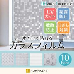 ガラスフィルム 窓 目隠しシート【10種類から選べる】ガラスシート 窓 装飾フィルム 曇りガラス 窓 プライバシー 【merunasi】