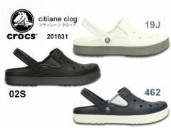 crocs クロックス t 201831 citilane clog シティレーン クロッグ ●19J:White/Smoke ●02S:Black/Graphite ●462:Navy/White サンダル/