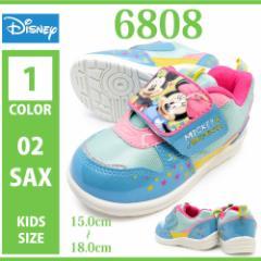 DISNEY ディズニー/6808/キッズ ジュニア 子供靴 スニーカー ローカット レースアップ 紐靴 ゴムひも 運動靴 マジックテープ ベルク