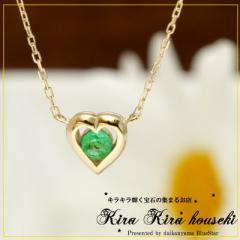 K10 エメラルド ハートネックレス キラキラ宝石店