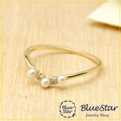 華やかなパールのティアラが指元を華やかに 指輪 キラキラ宝石店 BlueStar