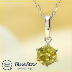 K18WG スフェーン ネックレス キラキラ宝石店 BlueStar