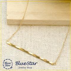 気軽につけられる トップボリュームネックレス キラキラ宝石店 BlueStar