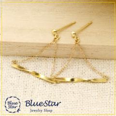 気軽につけられる地金スイングピアス キラキラ宝石店 BlueStar