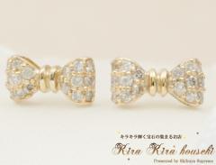 K10YG ダイヤモンド ピアス キラキラ宝石店