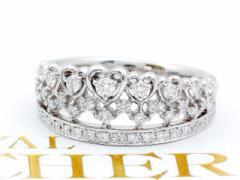 【JRA0085B】ロイヤルアッシャー ダイヤモンド 王冠デザイン (プラチナ)