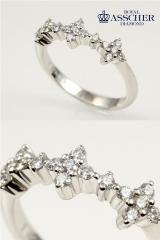 ロイヤルアッシャーダイヤモンド プラチナリング RR0062B 【送料無料】【サイズ調整無料】