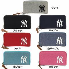 即日出荷 イーカム MLB 長財布 ニューヨークヤンキース 杢調 YK-WLT01