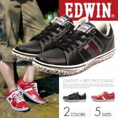 【送料無料】【EDWIN/エドウィン】ローカット スニーカー メンズ 人気 レッド 黒 カジュアル靴 カジュアルシューズ メンズ ED-7137