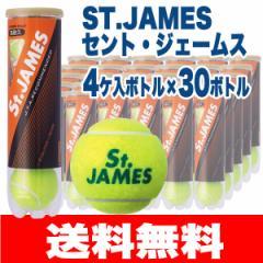 [テニスボール]ダンロップ(DUNLOP)セントジェームス(St.JAMES)4個入り×30缶/120球【送料無料】