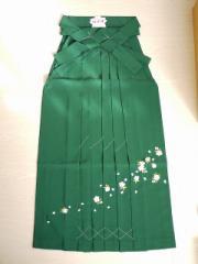 【袴/みどり(刺繍)】紐下丈83〜102cm 緑 卒業式 はかま 女性用 婦人 格安 レディース レンタルより安い メール