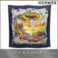 エルメス HERMES カレ 90 大判 スカーフ THE ALFEE AUBE シルク レディース 【中古】小物