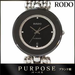 ラドー RADO フローレンス レディース 腕時計 129 3742 4 デイト ブラック 黒 文字盤 クォーツ ウォッチ レディース 【中古】時計