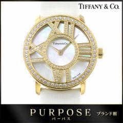 ティファニー TIFFANY&CO. アトラスカクテルラウンド Z1900 10 50E91A40B 腕時計 ダイヤ レディース 【中古】時計