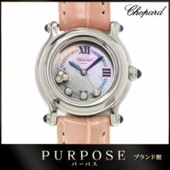 dbae2b2b2a ショパール CHOPARD ハッピースポーツ ダイヤ レディース 腕時計 ホワイトシェル 【中古】時計