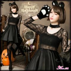 ハロウィン コスプレ ネコ 黒猫 コスプレ衣装 アニマル 猫耳 セクシー かわいい 猫 衣装 コスチューム 団体