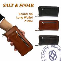 ソルト & シュガー salt & sugar PIN ピン ラウンドジップロングウォレット 長財布 (pi-2855) 送料無料 革財布 メンズ レディース 本革