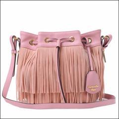サマンサベガ 巾着ショルダーバッグ ラミディ 大 ピンク