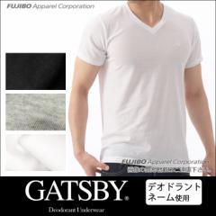 GATSBY 消臭デオドラントネーム V首半袖Tシャツ ギャッツビー Vネック/メンズインナー/ メンズR0112B