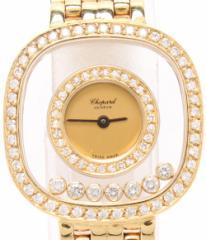 07d3494f6f 美品 ショパール 腕時計 ハッピーダイヤ 278375 クォーツ ダイヤベゼル chopard レディース 【中古】