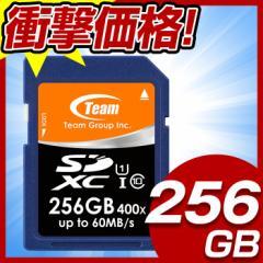 送料無料 TEAM チーム SDカード 258GB class10 クラス10 UHS-1対応 高速転送 TSDXC256GUHS01 高速 SDカード 258GB 国際パッケージ版 激安