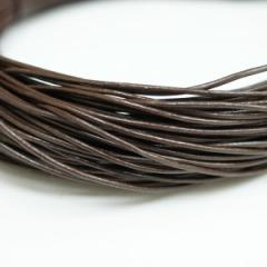 本革 丸紐 1mm ブラウン 1M単位の切り売り 皮ひも 茶 こげ茶 革紐 皮紐 革ひも レザーコード