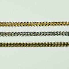 チェーン N-606 1m ゴールド ロジウム シルバー アンティーク 古美 メッキ 真鍮 金