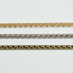 チェーン N-910 1m ゴールド ロジウム シルバー アンティーク 古美 メッキ 真鍮 金
