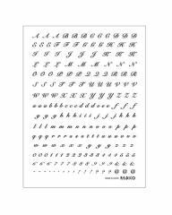パジコ 転写シール アルファベット筆記体 ブラック