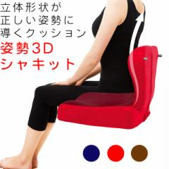 【送料無料】【クッション 姿勢 イス 椅子 背もたれ 背当てクッション 背あてクッション】 クッション 姿勢3Dシャキット (B456)