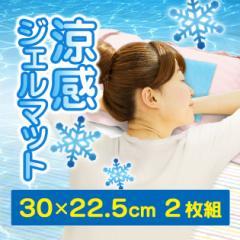 【送料無料】【冷却 冷感 涼感 涼しい 敷き パッド マット ジェル ひんやり】涼感ジェルマット ミニ 22.5×30cm 2枚セット(B531-2)