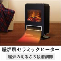 ◎【送料無料】【暖炉型 ファンヒーター 暖房 暖炉 暖房器具 暖房機 暖炉型ファンヒーター】暖炉風セラミックファンヒーター(X682)