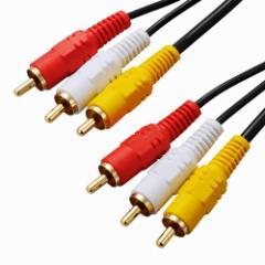 オーム電機 ビデオ接続コード ピンプラグ×3-ピン...