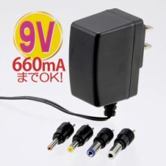 OHM 電源アダプター ACアダプター スイッチング 9V 薄型 03-3143 AV-DSW9 オーム電機