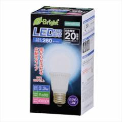 オーム電機 LED電球 広配光280° 3.3W 昼光色 白熱電球20W相当 E26 LDA3D-G AS21 06-2881