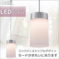 オーム電機 LEDガラスペンダント LE-Y06LE-CL 06-0122