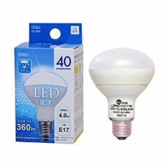 オーム電機 LED電球/レフランプミニ形 40W相当 昼光色 口金E17 広配光タイプ・密閉形器具対応 LDR4D-H-E17 A9 06-0204