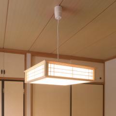 LED和風ペンダントライト 調光 8畳用 電球色 LT-W30L8K-K 06-0661