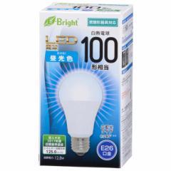 オーム電機 広配光LED電球 100W形相当/1600lm/昼光色/E26 密閉器具対応 LDA13D-G AS25 06-2926
