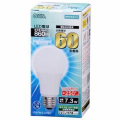 オーム電機 広配光LED電球 60W形相当/860lm/昼白色/E26 密閉器具対応 LDA7N-G AH52 06-3285