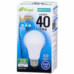 オーム電機 広配光LED電球 40W形相当/580lm/昼光色/E26 密閉器具対応 LDA5D-G AS25 06-3365