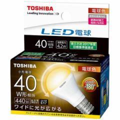 東芝 LEDミニクリプトン形電球 E17 広配光 40形相当 電球色 LDA4L-G-E17/S/40W 16-0586