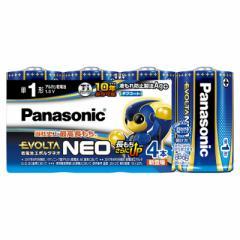 アルカリ乾電池 エボルタネオ 単1形×4本入 Panasonic LR20NJ/4SW 17-3175