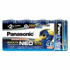アルカリ乾電池 エボルタネオ 単2形×4本入 Panasonic LR14NJ/4SW 17-3177
