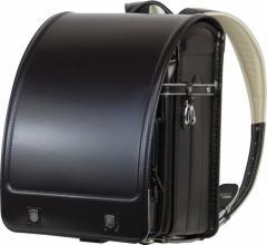 2018モデル 送料無料 フィットちゃん エンブレムコンビ ランドセル ブラック×黒ステッチ 程良い艶仕様 A4フラットファイルサイズ