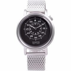 新品未使用 エドウィン EDWIN EQUATOR メンズ腕時計 ブラック文字盤 メッシュベルト クオーツ クロネコDM便で送料無料 EW1G012M0064