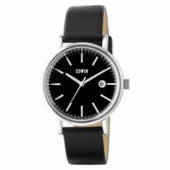 新品未使用 エドウィン EDWIN レディース腕時計 エピック EPIC 黒本革ベルト DM便で送料無料 3針 クオーツ EW1L002L0024