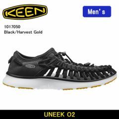 キーン KEEN サンダル UNEEK O2 ユニーク O2 Black/Harvest Gold 1017050/メンズ【靴】